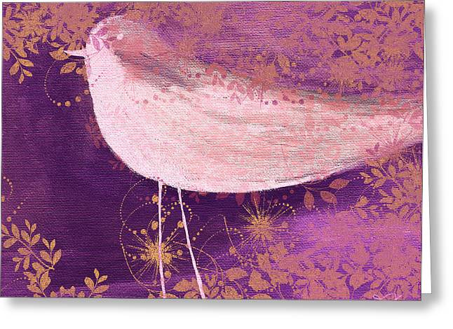 Twirling Greeting Cards - The Bird - 100-01b Greeting Card by Variance Collections