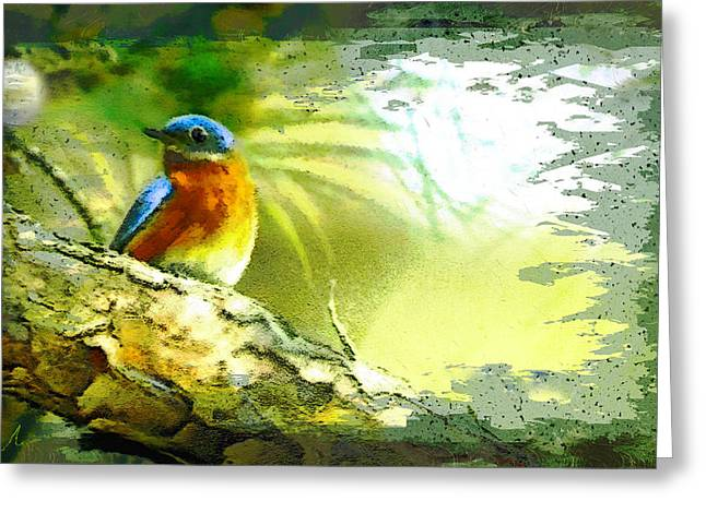 The Bird And The Golf Ball Greeting Card by Miki De Goodaboom