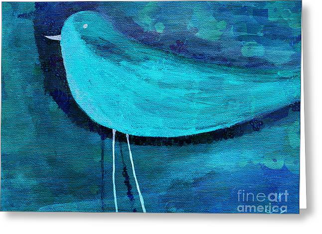 Digital Media Greeting Cards - The Bird - bl07a Greeting Card by Variance Collections
