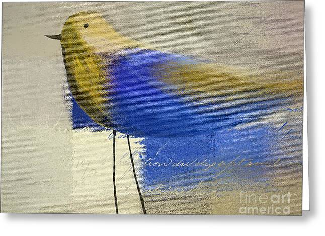 Script Greeting Cards - The Bird - j100124164-c21 Greeting Card by Variance Collections