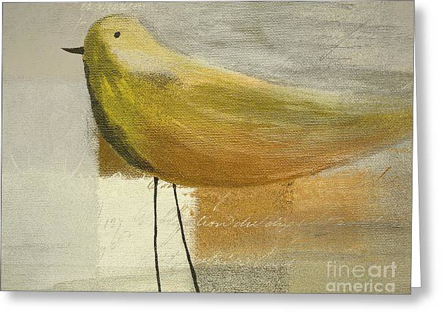 Script Greeting Cards - The Bird - j100124164-c23a Greeting Card by Variance Collections