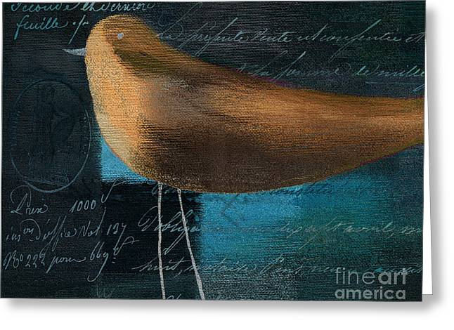Brown Birds Greeting Cards - The Bird - j100124164-c25 Greeting Card by Variance Collections