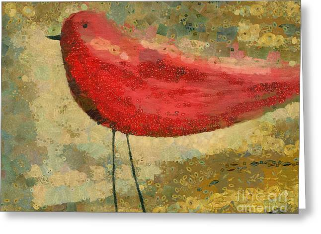 Traditional Media Greeting Cards - The Bird - k03b Greeting Card by Variance Collections