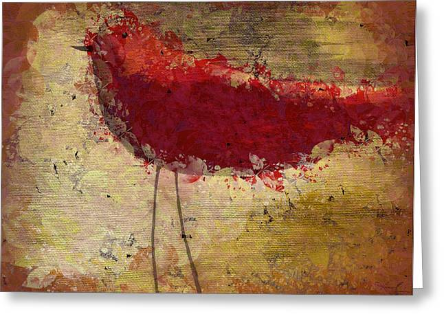 The Bird - S65b Greeting Card by Variance Collections