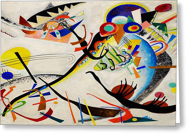 Sunset Posters Greeting Cards - The Bird Greeting Card by Wassily Kandinsky