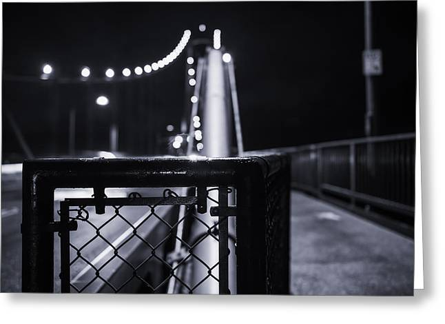 The Bridge Greeting Card by Alex Land