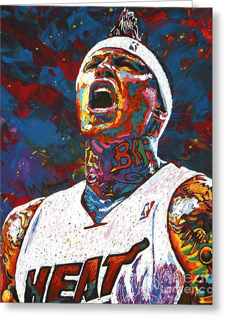 New Orleans Hornets Greeting Cards - The Birdman Greeting Card by Maria Arango