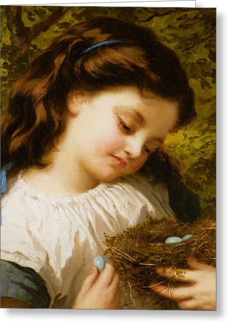 Young Teen Greeting Cards - The Birds Nest Greeting Card by Sophie Anderson