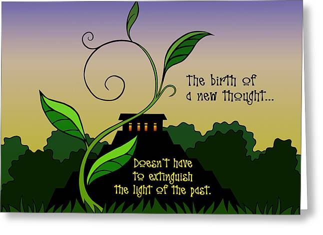 New Thoughts Greeting Cards - The Birth of a New Thought Greeting Card by Spyder Webb