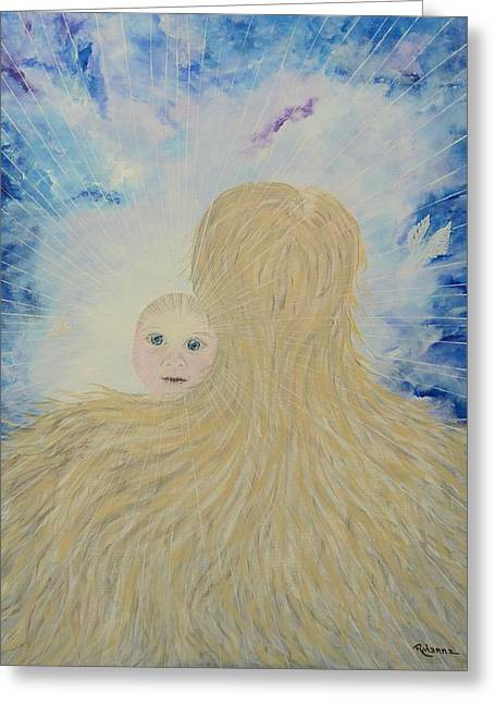 Universal Mother Greeting Cards - The Birth of New Universal Love named Tao  Greeting Card by Judy M Watts-Rohanna