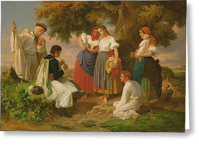 Shepherds Photographs Greeting Cards - The Birth Of The Folk-song Greeting Card by Janos Janko