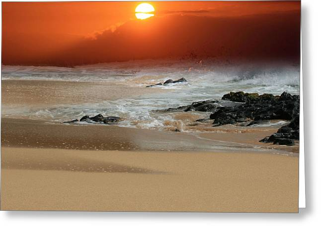 Golden Sand Greeting Cards - The Birth of the Island Greeting Card by Sharon Mau
