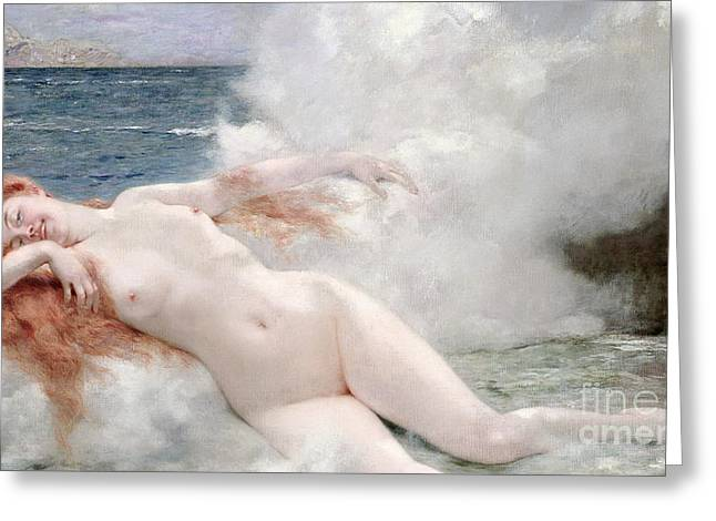 The Birth Of Venus Greeting Card by Henri Gervex