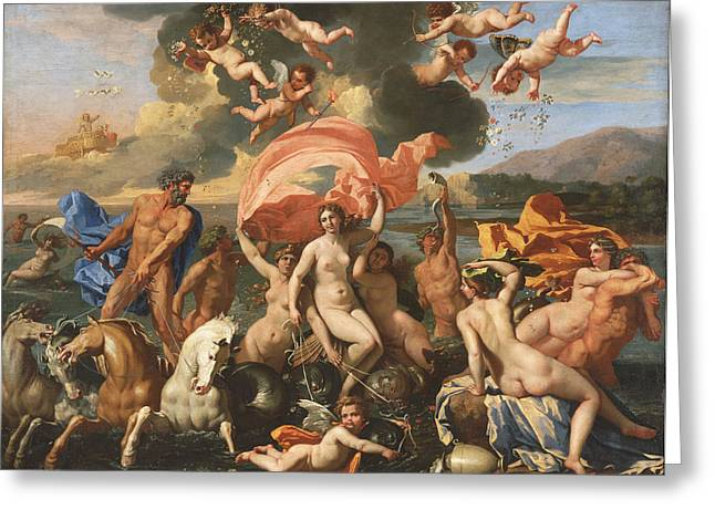 Poussin Greeting Cards - The Birth of Venus Greeting Card by Nicolas Poussin