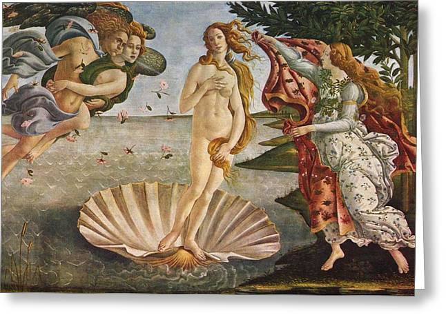 Adobe Wells Greeting Cards - The Birth of Venus Greeting Card by Sandro Botticelli