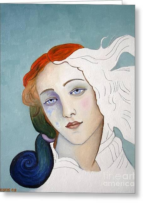 Goddess Birth Art Greeting Cards - The Birth of Venus Greeting Card by Venus