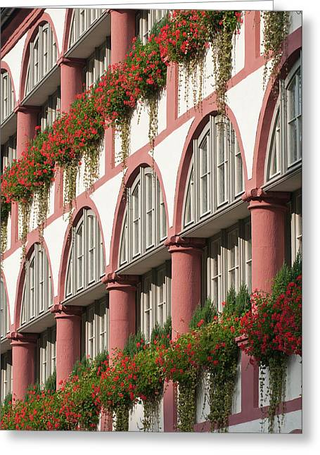 The Bischofshof Hotel Regensburg Greeting Card by Michael Defreitas