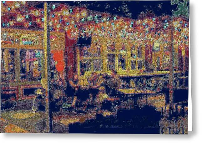 Paint Photograph Greeting Cards - The Bistro Patio Greeting Card by ARTography by Pamela  Smale Williams