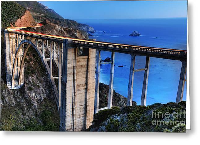 Bixby Greeting Cards - The Bixby Bridge  Greeting Card by Marco Crupi