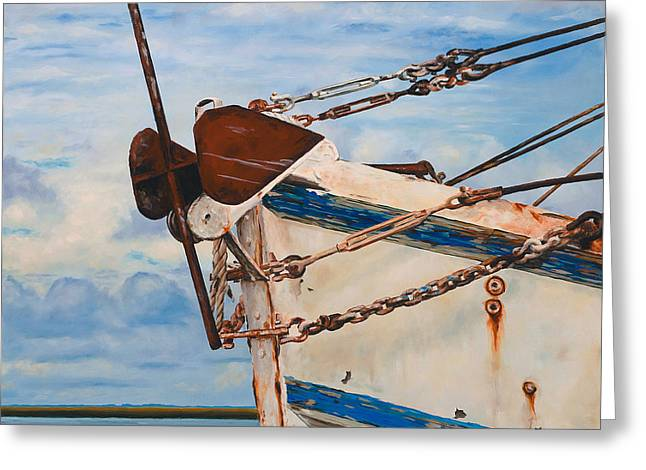 Shrimp Boat Greeting Cards - the B.J. Henry Greeting Card by Rick McKinney