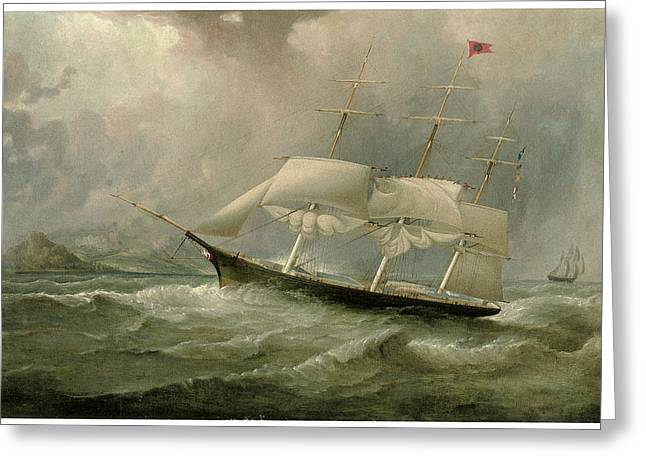 Samuel Greeting Cards - The Black Ball Line Clipper Ship Ocean Chief Greeting Card by Attributed to Samuel Walters
