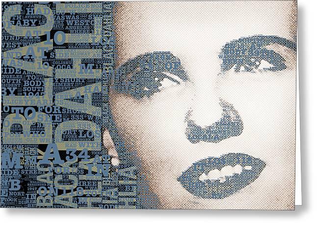 Murder Mixed Media Greeting Cards - The Black Dahlia Elizabeth Short Greeting Card by Tony Rubino