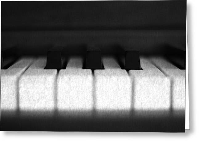 White Chopin Greeting Cards - The Black Keys Greeting Card by Dan Sproul