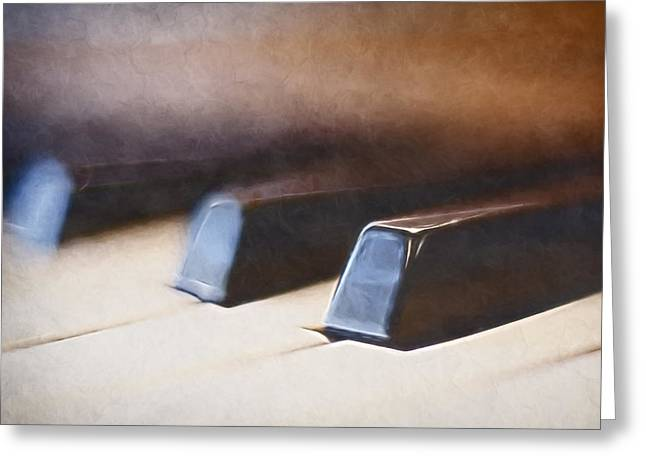Piano Greeting Cards - The Black Keys Greeting Card by Scott Norris