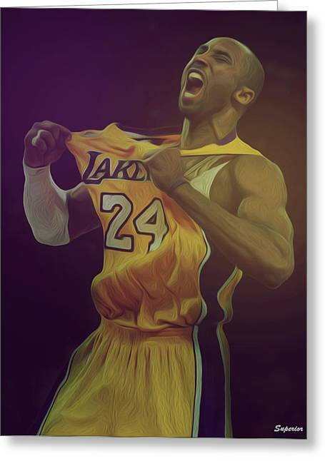 The Black Mamba Greeting Card by Superior Designs