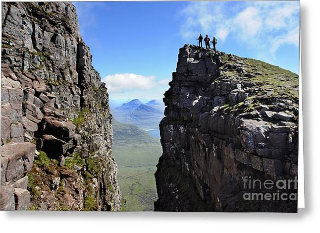 Torridon Greeting Cards - The Black Notch on Beinn Alligin Torridon Scotland Greeting Card by Colin Woods