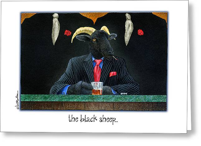 Kingpins Greeting Cards - The Black Sheep... Greeting Card by Will Bullas