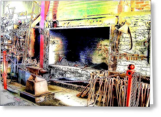 The Blacksmiths Forge. Greeting Card by Trevor Kersley