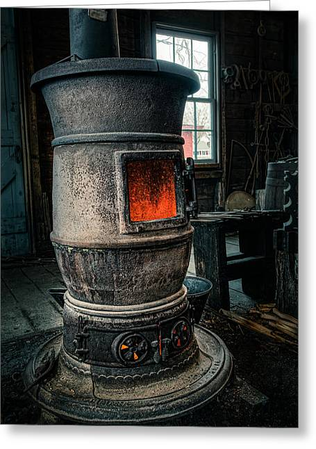 Conditions Greeting Cards - The blacksmiths furnace - Industrial Greeting Card by Gary Heller
