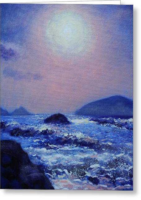 Acrylic Greeting Cards - The Blasket Islands Greeting Card by John  Nolan