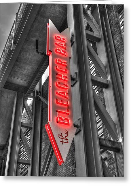 Fenway Park Greeting Cards - The Bleacher Bar Greeting Card by Joann Vitali