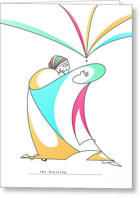 Figure Drawing Digital Art Greeting Cards - The Blessing Greeting Card by Ruth Borges