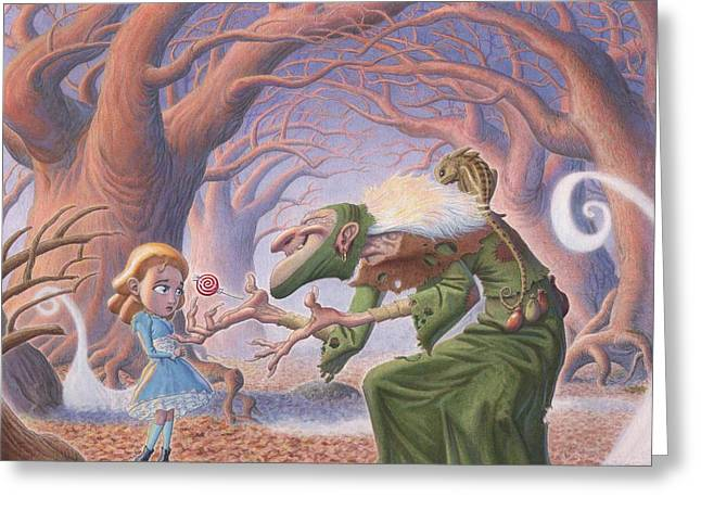 Samhain Greeting Cards - The Blind Witch Greeting Card by Richard Moore