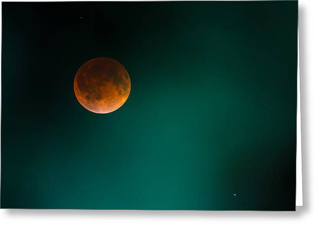 Blood Moon Greeting Cards - The Blood Moon Greeting Card by Ryan Heffron