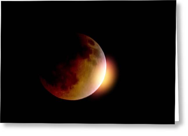 Blood Moon Greeting Cards - The Blood Moon  Greeting Card by Saija  Lehtonen
