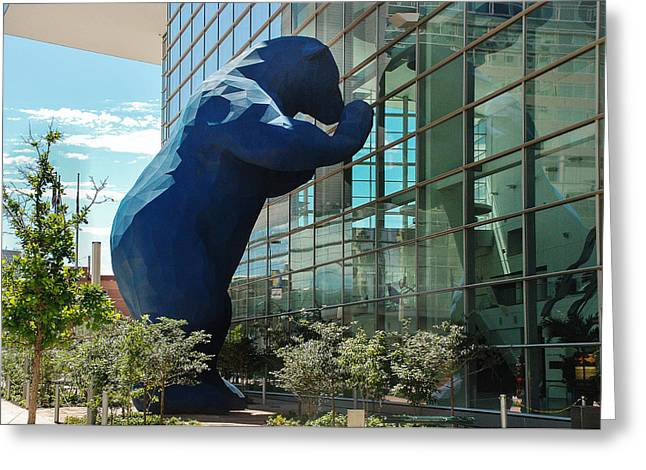 Argent Greeting Cards - The Blue Bear  Greeting Card by Dany  Lison