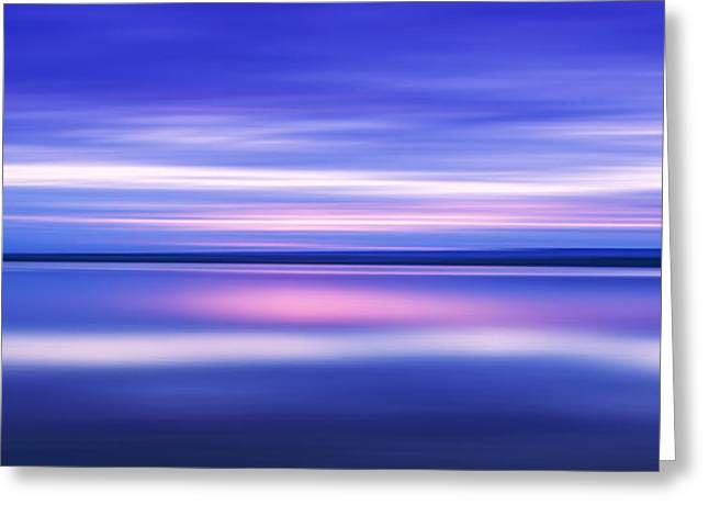 Abstract Beach Landscape Greeting Cards - The Blue Beyond Greeting Card by Katherine Gendreau