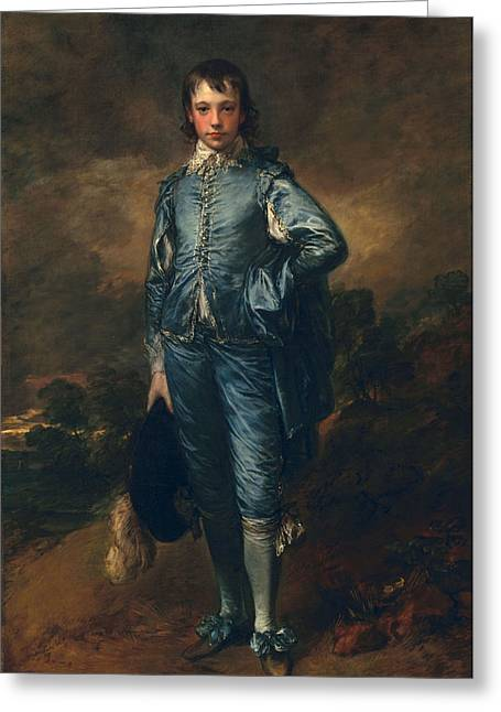 Adolescent Greeting Cards - The Blue Boy, C.1770 Greeting Card by Thomas Gainsborough