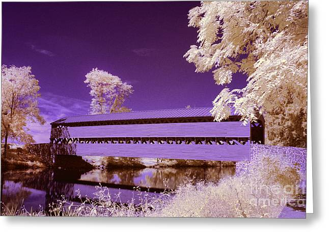 Ir Greeting Cards - The Blue Bridge Greeting Card by Paul W Faust -  Impressions of Light
