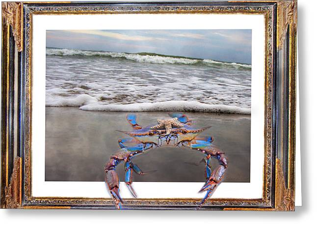 The Blue Crab Greeting Card by Betsy C Knapp