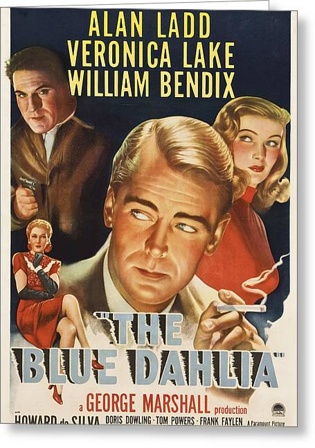 Film Noir Greeting Cards - The Blue Dahlia - 1946 Greeting Card by Nomad Art And  Design