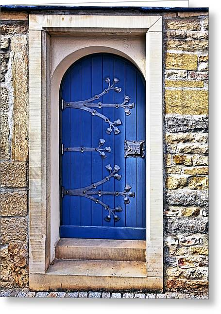 Entrance Door Greeting Cards - The Blue Door Greeting Card by Marcia Colelli
