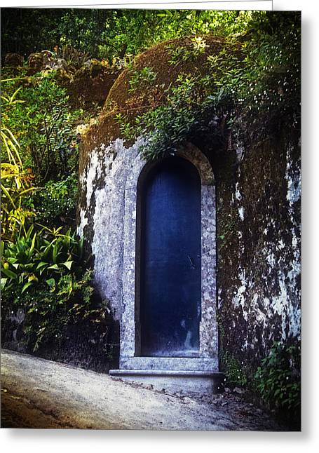 The Hills Greeting Cards - The Blue Door Greeting Card by Mary Machare