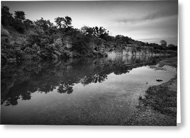 Reflections In River Digital Art Greeting Cards - The Blue Hole Greeting Card by Linda Unger