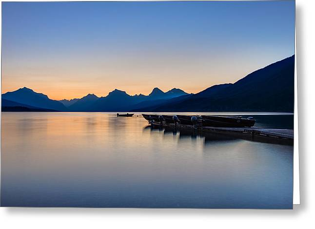 West Glacier Greeting Cards - The Blue Hour Greeting Card by Adam Mateo Fierro
