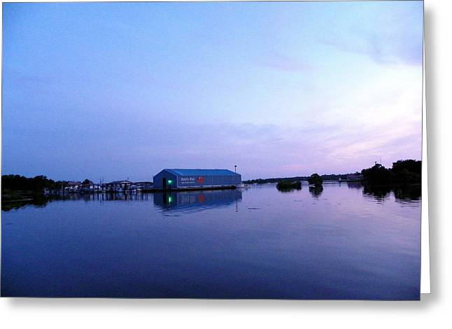Best Sellers -  - Engulfing Greeting Cards - The Blue Hour Greeting Card by Judy Wanamaker